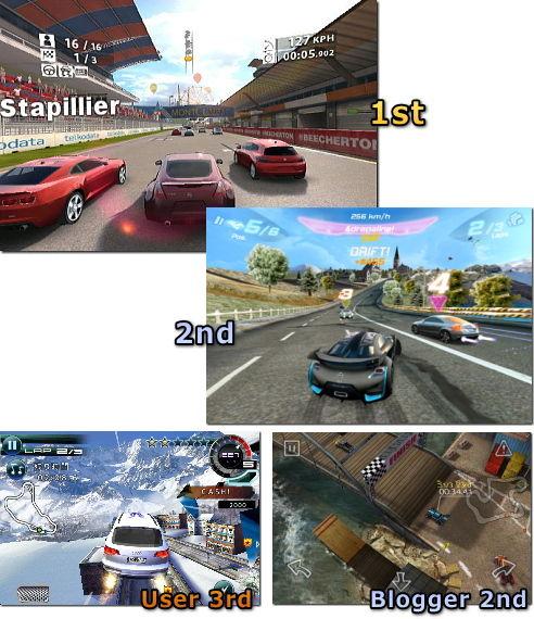 iPhone 2010年ゲーム大賞 結果発表 レース