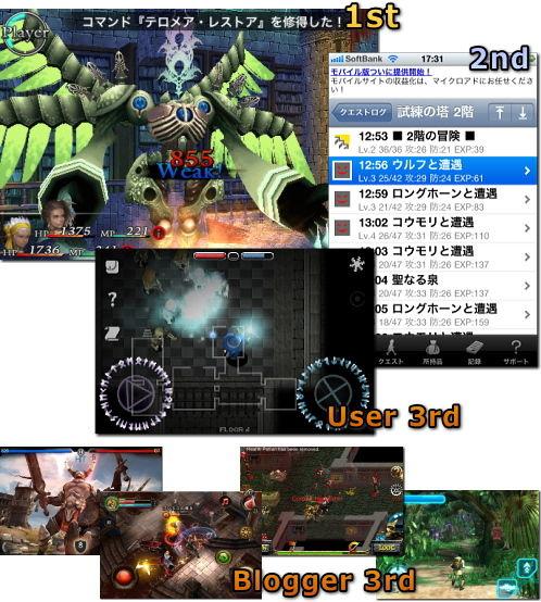 iPhone 2010年 ゲーム大賞 RPG