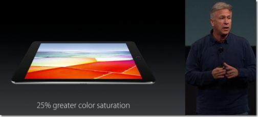 7インチ iPad Pro 明るさ色合い