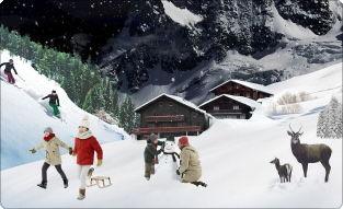 ゲームの中の雪景色