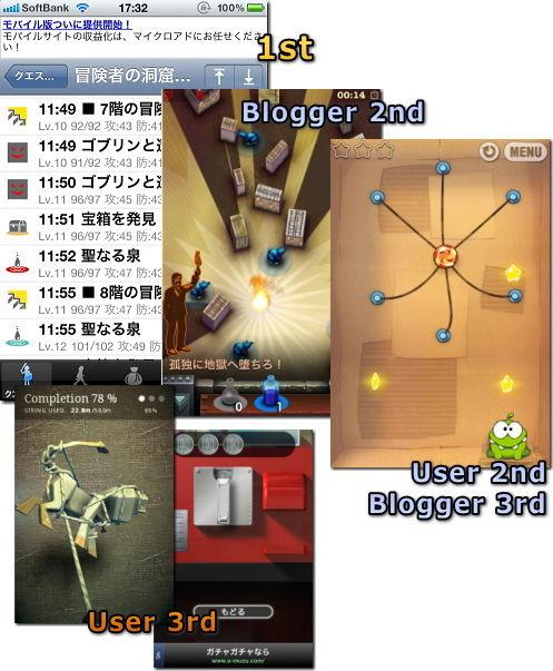 iPhone 2010年 ゲーム大賞 アイデア