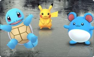 雨の日に遊ぶポケモンGO