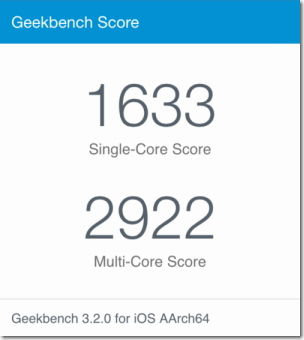 geekbench for iphone6p