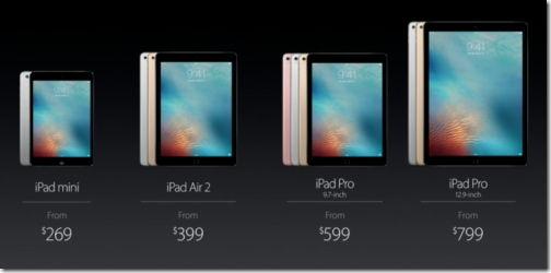 iPad Pro Air 2 mini