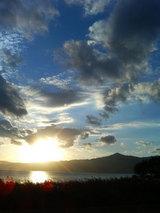烏丸半島の夕日