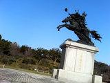 菊池武光公の銅像