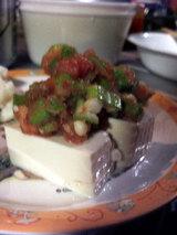 豆腐+オクラ+タラコ