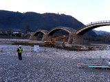 錦帯橋 工事中