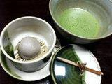 お抹茶と蕎麦饅頭
