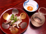生コノコ、烏賊ゲソのバターソテー、ふなぐち
