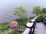 小川原湖の遊歩道