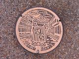 関宿のマンホール