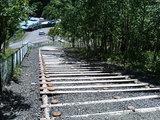 石北峠の展望所への坂道