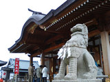 神社と狛犬