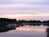 竜洋海洋公園 夕陽と船