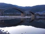 錦帯橋と土嚢
