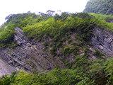 久慈渓流の断崖