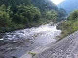 道の駅『飛騨金山ぬく森の里温泉』裏手の川