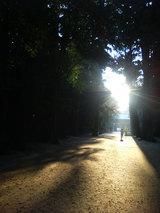 鹿島神宮 夕陽