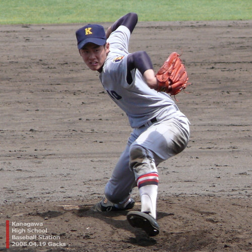 慶応藤沢・稲垣貴投手