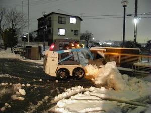 全力の雪かき