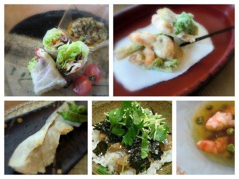 20124月の基本料理鯛茶漬け