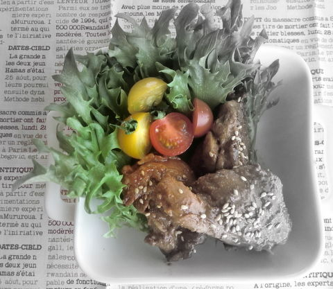鶏肉のピリ辛レタス包み1