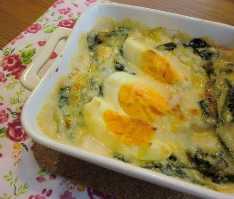 卵のグラタン1