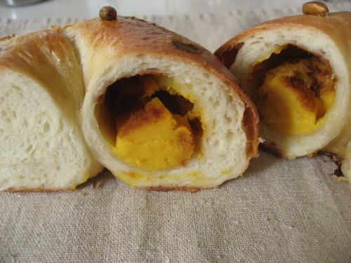 カボチャチーズケーキベーグル2