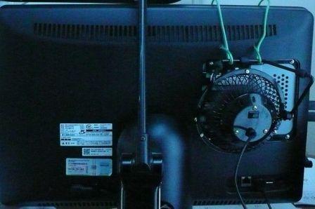 一体型PC usb扇風機 冷却