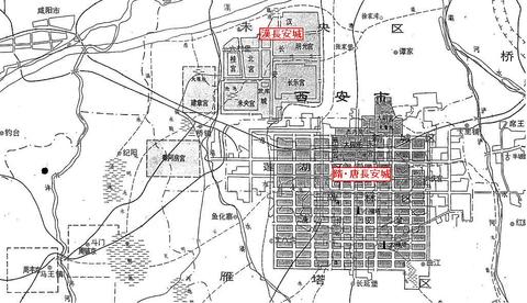 長安城の位置関係