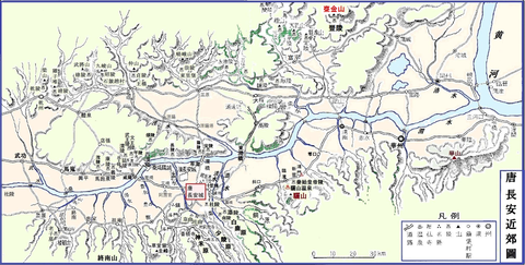 長安近郊圖 皇帝陵