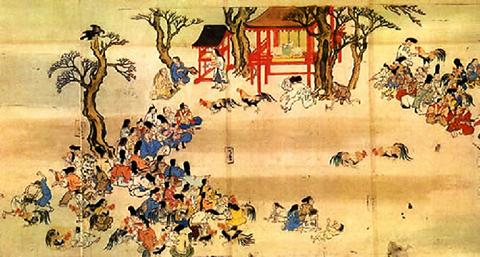 日本古代闘鶏 01