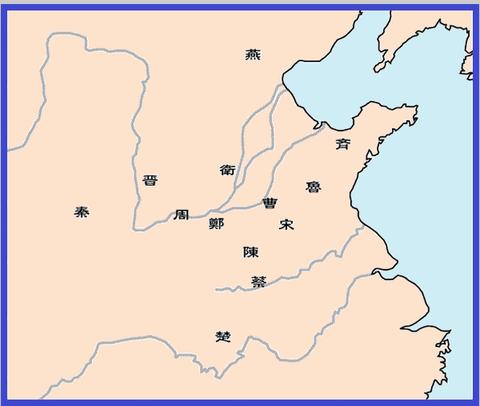 春秋戦国勢力図