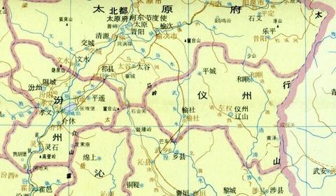 唐時代 太原地図622
