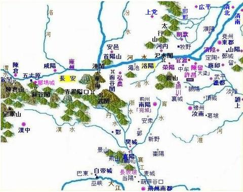 汜水関などの地図