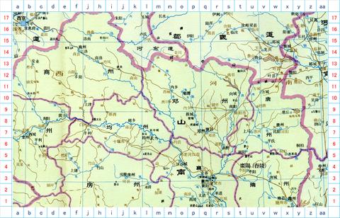 商山、南陽、襄陽 地図01