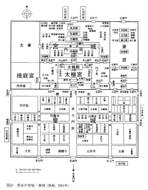 長安城皇城図
