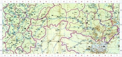 唐時代 地図山南 東・西道50