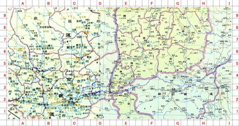 魚玄機2長安洛陽中原地図