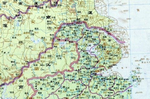 唐時代 地図615 長江下流域