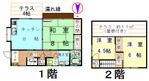 岩井西1丁目貸家平面図