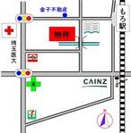 古澤荘駐車場案内図