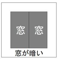サービスルーム(窓_明るさ)
