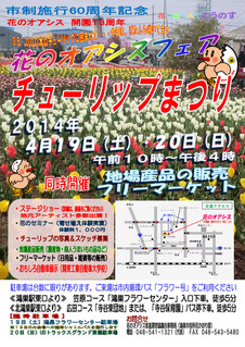 花のオアシスチューリップ祭り(鴻巣市)_表