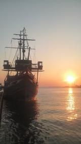 大阪湾の夕陽
