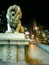 北浜ライオン橋ライトアップ