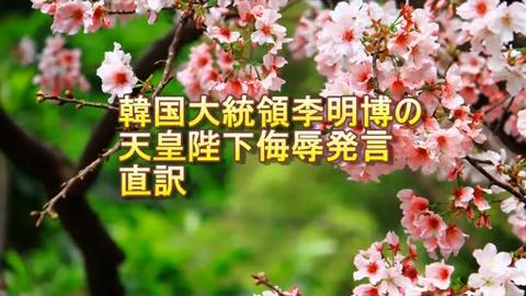 李大統侮辱発言の直訳