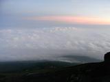8合目山小屋からの夕日