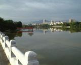 早朝の大濠公園
